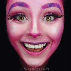 Pink cheshire cat makeup