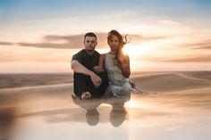 Sand dunes engagement portraits by San Diego Photographer Paige Nelson