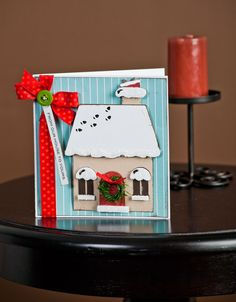 From Our House To Yours Card made with the Jolly Holidays cartridge! #cricut
