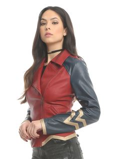 Her Universe DC Comics Wonder Woman Armor Faux Leather Jacket at . Woman Jackets and Blazers her universe wonder woman jacket Wonder Woman Outfit, Wonder Woman Movie, Wonder Woman Cosplay, Wonder Woman Logo, Wonder Woman Clothes, Coats For Women, Jackets For Women, Marvel Dc, Look Body