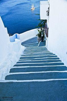 Santorini Grecia by Marisela Somoza