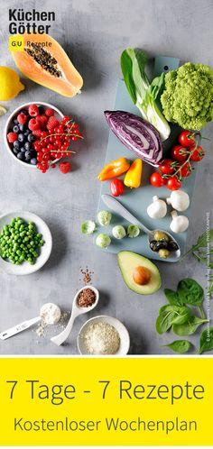 7 Tage – 7 einfache Gerichte, die euren Geldbeutel schonen. Dieser Wochenplan versorgt euch mit leckeren Rezeptideen aus Grundnahrungsmitteln und beliebten Zutaten aus dem Vorratsschrank. Vegan, Food, Cakes, Food And Drinks, Potato, Meal, Essen