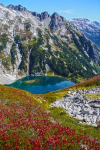 Doubtful Lake from the Sahale Trail, Fall. North Cascades National Park