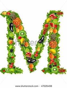 Google Afbeeldingen resultaat voor http://image.shutterstock.com/display_pic_with_logo/376831/376831,1266598499,1/stock-photo-fruit-and-vegetable-letter-m-47026498.jpg