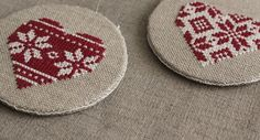 Embroidered Nordic Christmas decorations