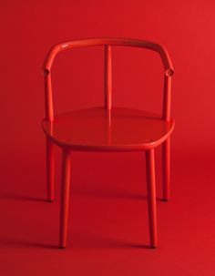 Chair for the Five furniture collection. Made by Japanese craftsmen in solid wood. By Claesson Koivisto Rune for Meetee. Fred Instagram, Chair Design, Furniture Design, Furniture Ideas, Red Interiors, Solid Wood Furniture, Red Aesthetic, Shades Of Red, Furniture Collection