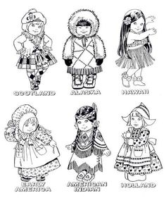 Coloring page children of the world coloring picture children of