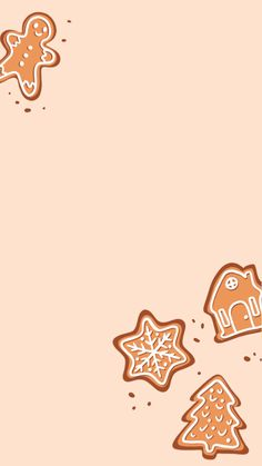 Free iPhone Wallpaper quote, Gingerbread cookies Christmas