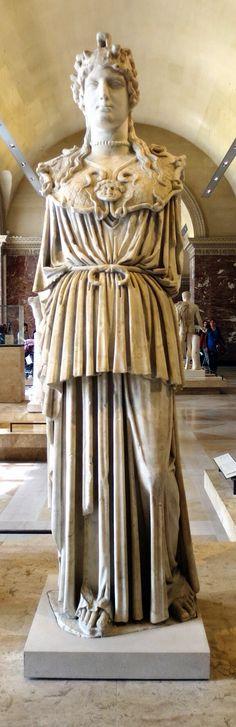 Atenea Partenos Odescalchi. Museo del Louvre.