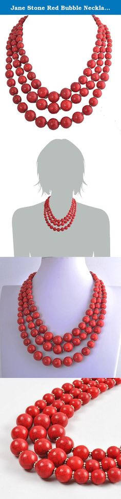 Jane Stone Red Bubble Necklace 3-Layer Illusion Necklace Wedding Bridal Jewelry(Fn0659-Red). Discover the Jane Stone of fashion jewelry. The expansive selection of high-quality jewelry featured in the Jane Stone offers everyday values that range from fresh water pearl jewelry and precious gemstone jewelry to the latest fashion designs. Pieces from the Jane Stone come packaged in a special bag, making them more secure. Due to long distance, items usually be took 6-16 days to arrive you…