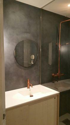Microsement Oslo Toyen Medium Nero Pallido Concrete Design, Oslo, Mirror, Bathroom, Medium, Furniture, Home Decor, Washroom, Decoration Home