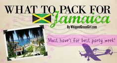 What to Pack for Jamaica (By WhippedGreenGirl.com) #Jamaica #All-Inclusive #Trip