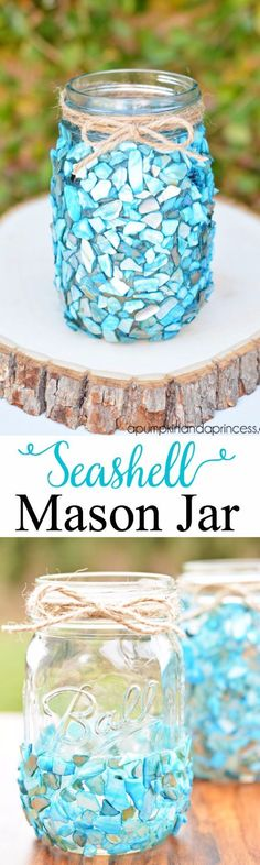 DIY Teen Room Decor Ideas for Girls | Beach Inspired Mason Jar Display | Cool Bedroom Decor, Wall Art & Signs, Crafts, Bedding, Fun Do It Yourself Projects and Room Ideas for Small Spaces http://diyprojectsforteens.com/diy-teen-bedroom-ideas-girls-rooms