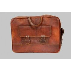 Satchel Bags : 15 inch Leather laptop bag Padded / Macbook Bag