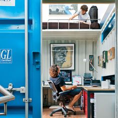 I was JUST telling someone how cool this would be. Someone got to the idea before me :(  A San Francisco Shipping Container Home Office Dwell