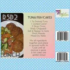 28 dae eetplan: Tuna fish cakes recipe