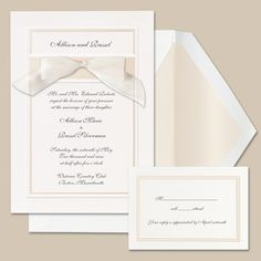 Simplicity Wedding Invitation | #exclusivelyweddings