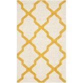 Found it at Wayfair - Cambridge Ivory / Gold Area Rug