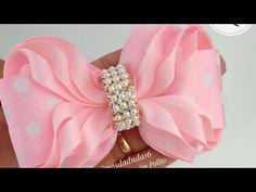 Handmade Hair Bows, Diy Hair Bows, Diy Bow, Diy Ribbon, Fabric Ribbon, Ribbon Bows, Ribbon Bow Tutorial, Hair Bow Tutorial, Satin Ribbon Flowers