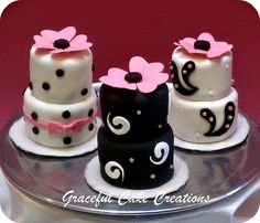 Mini Birthday Cakes by Graceful Cake Creations, via Flickr