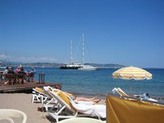 One of the best beaches on the Cote d'Azur...Marco Polo Beach at Théoule sur Mer
