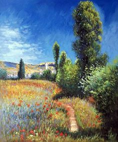 Landscape on the Ile Saint-Martin, 1881 Claude Monet - Art Painting Impressionism Impressionist Claude Monet, Impressionist Paintings, Impressionism Art, Landscape Art, Landscape Paintings, Monet Paintings, Oil Painting Abstract, Watercolor Artists, Painting Art