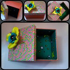 Simple embelishment with this design topped with the Rolaine signature #paperflowers  #trinketboxes #jewelrybox #craft  #crafting #handmade #RolaineCreationsFacebook