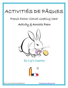 Celebrate Easter in your French class! This FREEBIE includes a template for an Easter acrostic poem in French, and student instructions for making ...