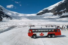 The famous Icefields Parkway links Jasper and Banff National Parks along one of Canada's highest mountain roadways. Climbing from the low valleys to nearly treeline, experience three life zones, the montane, the subalpine and the alpine. Along the way you'll stop at major viewpoints of Athabasca Falls, Columbia Icefield, Crowfoot Glacier, and Peyto Lake. #ExploreRockies