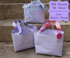 Petite totes from placements tutorial
