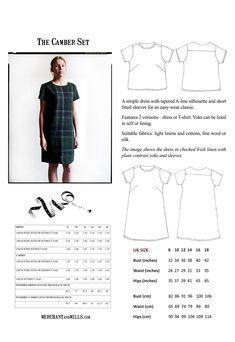 The Camber Set Pattern | Merchant & Mills xx dress top sewing pattern xx