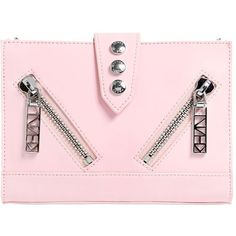 Kenzo Women Mini Kalifornia Smooth Leather Bag (4.657.100 IDR) ❤ liked on Polyvore featuring bags, handbags, shoulder bags, light pink, mini shoulder bag, pink studded handbag, kenzo, pink shoulder bag and studded purse