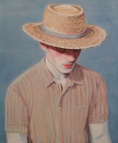 """Kris Knight  Peppermint Man 2014 Oil on prepared cotton paper 20x16"""" Private Collection"""