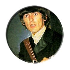 ONLY ONE Beatles George Harrison 2-1/4 Inch Button