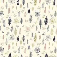 Birds and Feathers fabric design by Liz Adams, via Behance