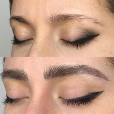 Microblading Before and After : Illustration Mircoblading Eyebrows, Natural Eyebrows, Thicker Eyebrows, Permanent Eyebrows, Straight Eyebrows, Thick Brows, Thick Eyebrow Shapes, Eyebrow Game, Eyebrow Makeup