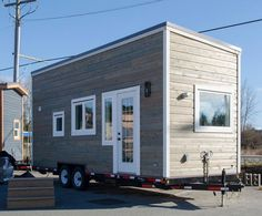 Fox Sparrow: a luxury modern 255 sq ft tiny house from British Columbia builder, Rewild Homes.