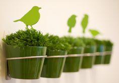 Lovely for the garden. Green green green tweet tweet tweet.