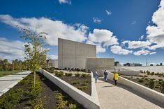 Studio Libeskind's National Holocaust Monument Opens in Ottawa Types Of Architecture, Architecture Details, Modern Architecture, Jewish Museum, Concrete Building, Concrete Path, Daniel Libeskind, Exposed Concrete, Wraps