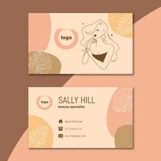 Beauty Business Cards, Salon Business Cards, Hairstylist Business Cards, Beauty Salon Logo, Beauty Salon Design, Business Logo Design, Business Card Logo, Calling Card Design, Bussiness Card