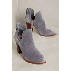 Charlotte Stone Cleo Booties ($320) ❤ liked on Polyvore featuring shoes, boots, ankle booties, grey, leather ankle booties, gray leather boots, grey ankle booties, leather zipped booties and grey leather boots