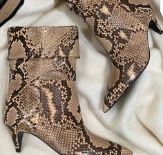 Snake Skin, Heels, Boots, Fashion, Heel, Crotch Boots, Moda, Fashion Styles, High Heel