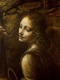 Leonardo da Vinci - The Virgin of the Rocks (The Virgin with the Infant St. John adoring the Infant Christ accompanied b