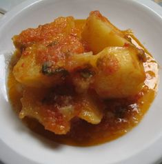 Favorite Recipes for the Lenten Season: Potato Ragout - Patates Yiahni Veg Recipes, Greek Recipes, Meatless Recipes, Fast Recipes, Meals Without Meat, Greek Potatoes, Greek Cooking, Slow Cooking