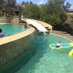 Pool with water slide