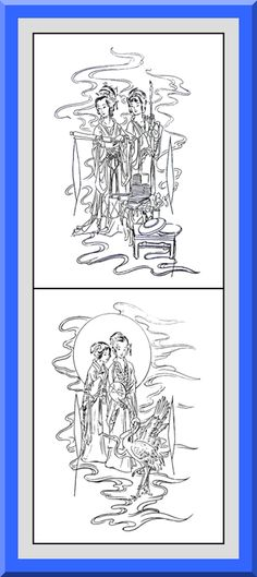 Coloring Pages With Examples. Printable Geisha Coloring Pages 30 High definition coloring pages  black outlines with colored examples Japanese Style