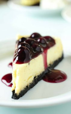 Recipe for a VERY easy Blueberry Cheesecake.