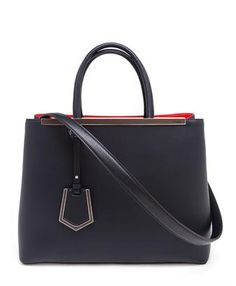 FENDI - 2Jours Large Leather Shopper Bag