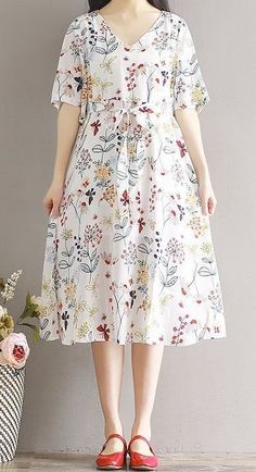 Size Boho Loose  Beach Summer Sundress  Dress  Women Tunic Plus Baggy Floral  | eBay | 1000 Simple Dresses, Plus Size Dresses, Casual Dresses, Vestidos Gg, Elegante Shorts, Best Party Dresses, Dress Party, Black Dress Outfits, Skirt Outfits