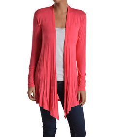 Another great find on #zulily! Coral Open Cardigan by Chris & Carol #zulilyfinds….color